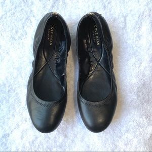 Cole Haan ZEROGRAND Black Leather Ballet Flat
